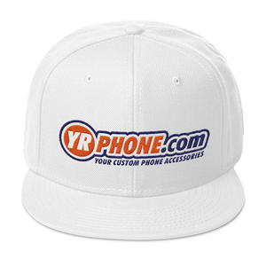 YR PHONE .COM Snapback Hat YOUR CUSTOM PHONE ACCESSORIES