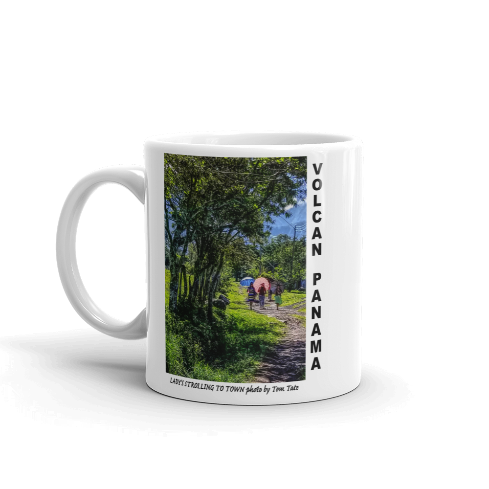 Lady's Strolling to Town Mug photo by Tom Tate Panama Scene - TaterSkinz