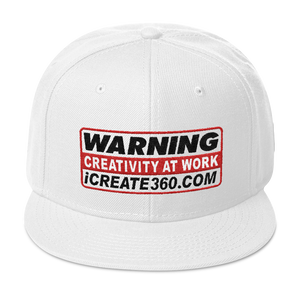 WARNING CREATIVITY AT WORK Snapback Hat