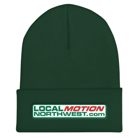 LOCAL MOTION NORTHWEST Cuffed Beanie Oregon Merch Headwear - TaterSkinz
