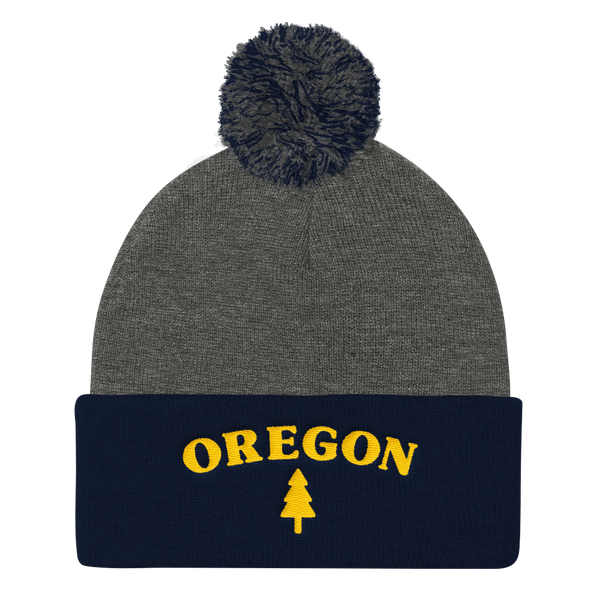 Oregon Tree Pom Pom Knit Cap - TaterSkinz