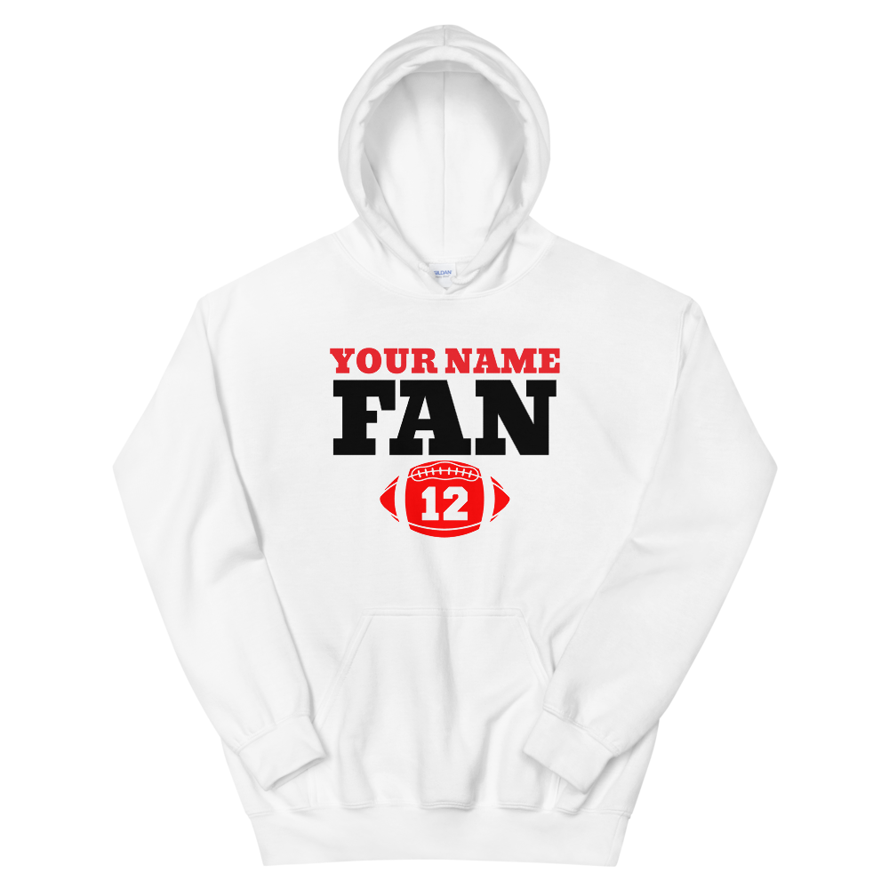 Your Name Here FAN Football 12 Unisex Hoodie Personalize this Hoodie - TaterSkinz