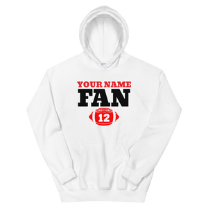 Custom Your Name Here FAN Football 12 Unisex Hoodie Personalize this Hoodie - TaterSkinz