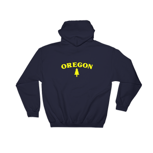 Oregon Tree Hoodie front and back imprint - TaterSkinz