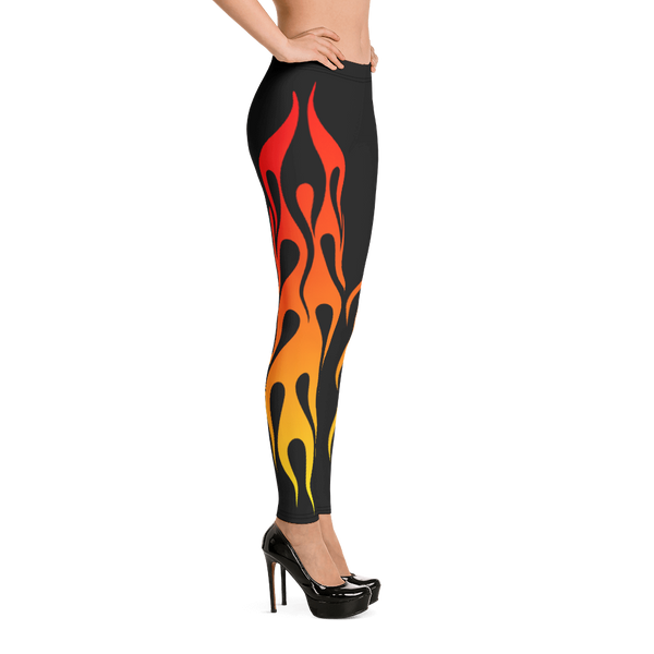 Lift Off Flaming Leggings - TaterSkinz