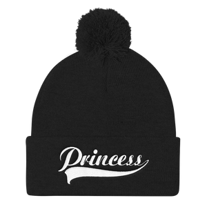 Princess Pom Pom Knit Cap - TaterSkinz