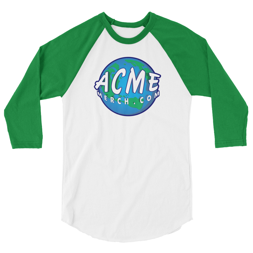 ACME MERCH .COM 3/4 sleeve raglan shirt