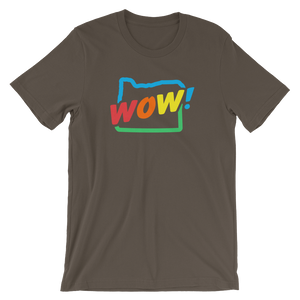 OREGON WOW RAINBOW Short-Sleeve Unisex T-Shirt - TaterSkinz