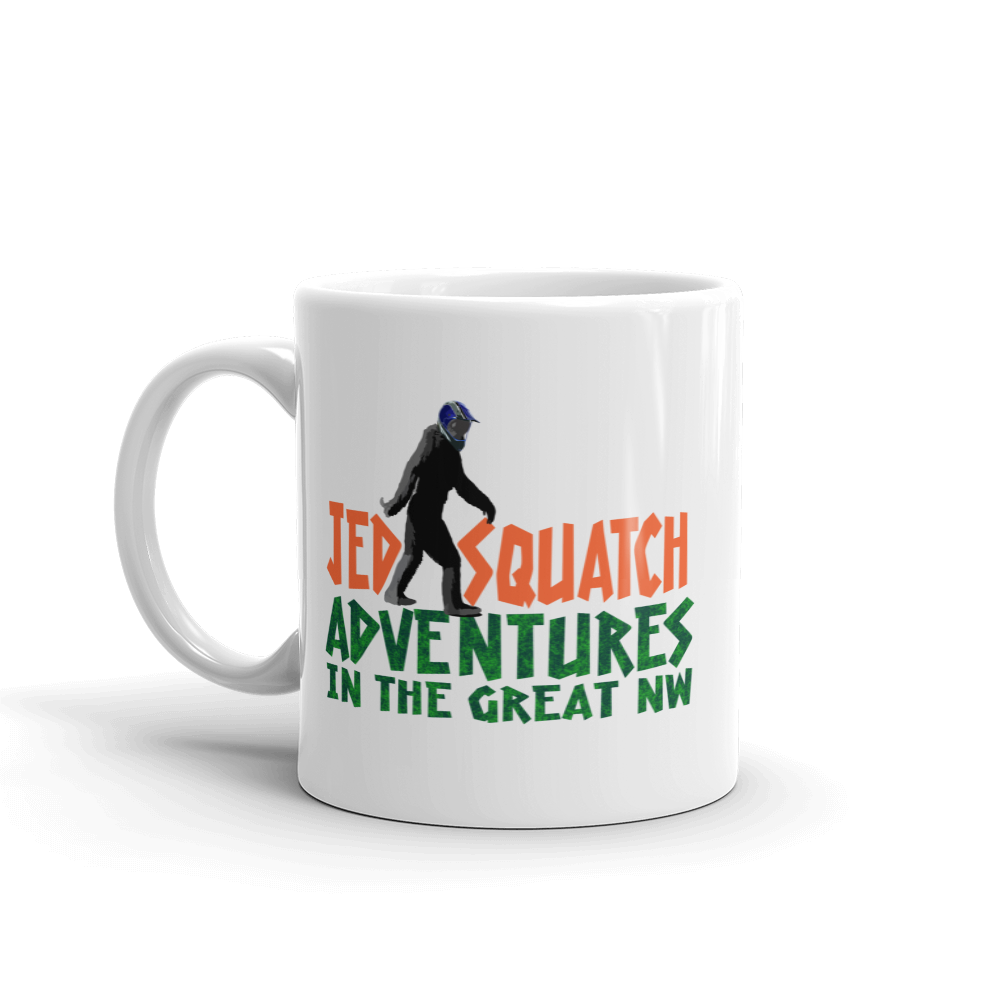 JedSquatch Adventures in the Great Northwest Mug - Tom Tate Studios