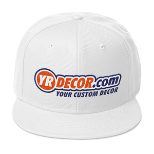 YR DECOR .COM Snapback Hat YOUR CUSTOM HOME DECORATIONS
