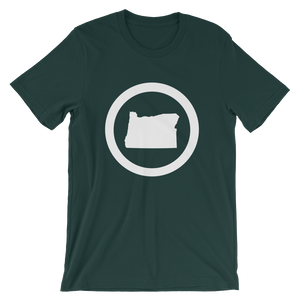 OREGON CIRCLE Oregon tee shirt merch - TaterSkinz