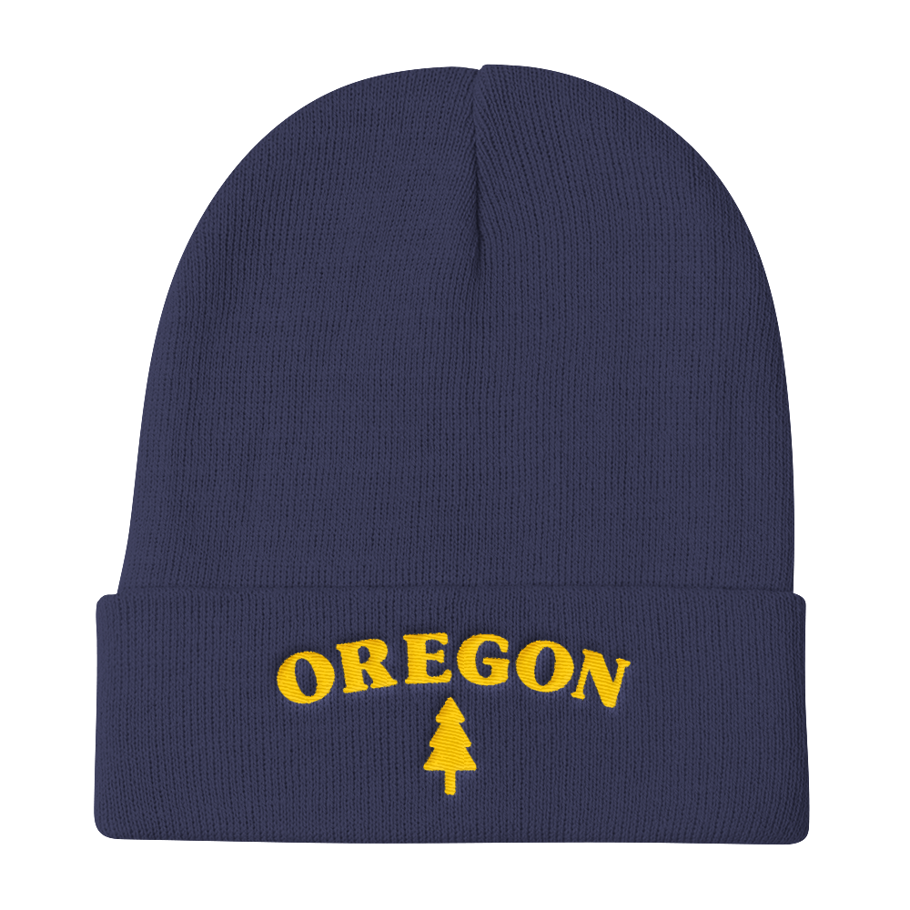 Oregon Tree Knit Beanie Oregon Merch Headwear - TaterSkinz