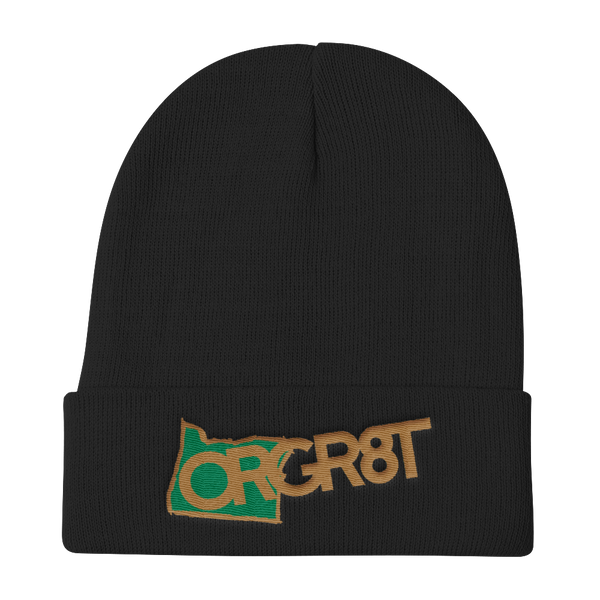 Oregon Gr8t Knit Beanie - TaterSkinz