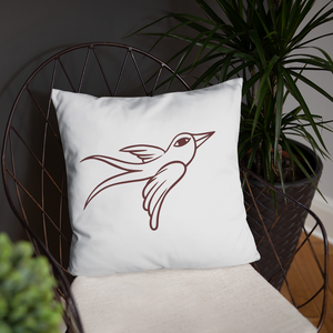 Swallow a flying Basic Pillow - TaterSkinz