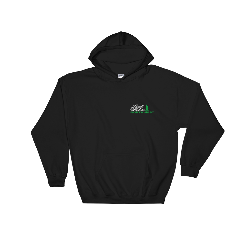 LOCAL MOTION NORTHWEST HOODIE - #002 front & back print - TaterSkinz