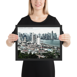 Panama City, Panama 2012 Framed photo paper poster i Photo 360 by Tom Tate