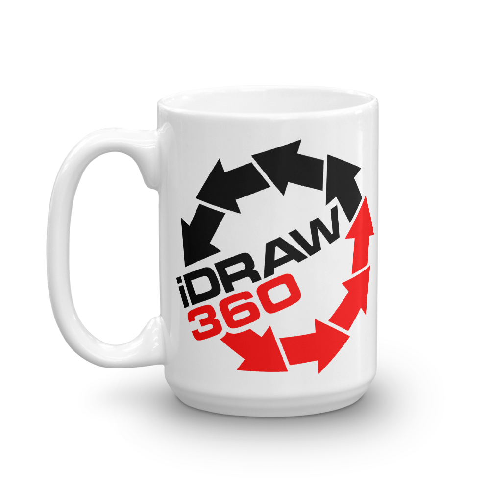 iDraw360 I Draw 360 beverage coffee Mug - TaterSkinz