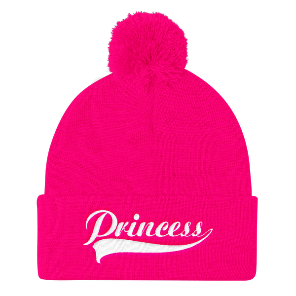 Princess Pom Pom Knit Cap