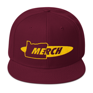 OR MERCH .COM Snapback Hat ~ CUSTOM OREGON ONLY MERCH MERCHANDISE - TaterSkinz