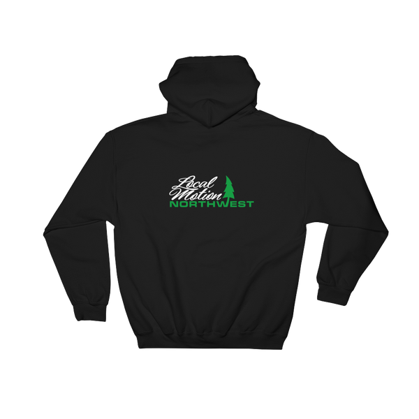 LOCAL MOTION NORTHWEST HOODIE - #002 front & back print