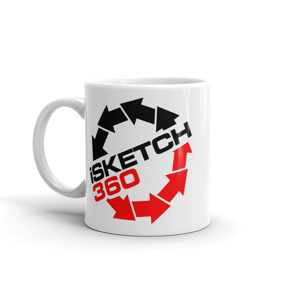 iSketch360 I Sketch 360 beverage coffee Mug - TaterSkinz