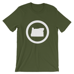 OREGON CIRCLE Oregon tee shirt merch - Tom Tate Studios