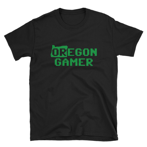 Oregon Gamer Short-Sleeve Unisex T-Shirt Video Game Player