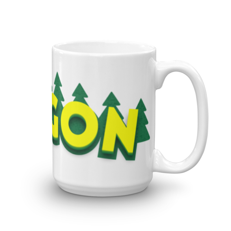 Oregon Mug Oregon Merch Mugs - Tom Tate Studios