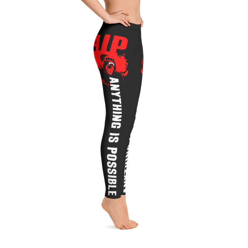 AIP WEAR ANYTHING IS POSSIBLE WOMEN'S WORKOUT LEGGINGS - TaterSkinz