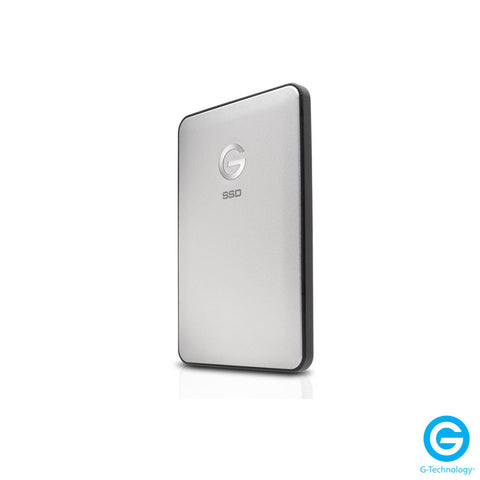 G-Technology G-DRIVE slim 500GB External USB 3.1 Gen 2 | Thunderbolt 3 Portable Hard Drive - Silver