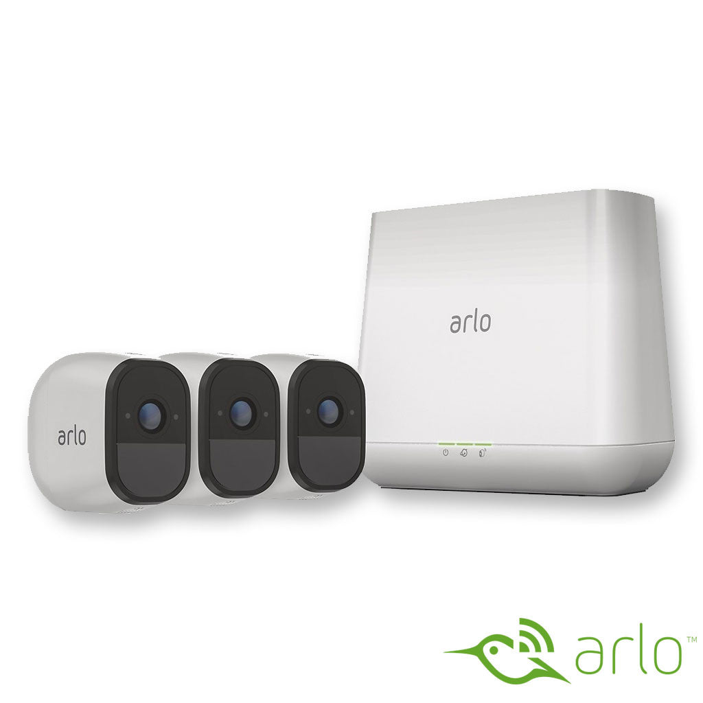 Arlo Pro - 3-Camera Outdoor Wireless Surveillance System - White (vms4330)