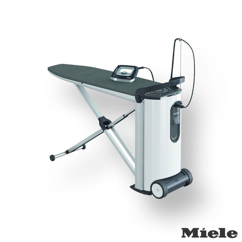 Miele B3312 Fashionmaster Ironing System Lotus Ironing Board Cover, White/Black
