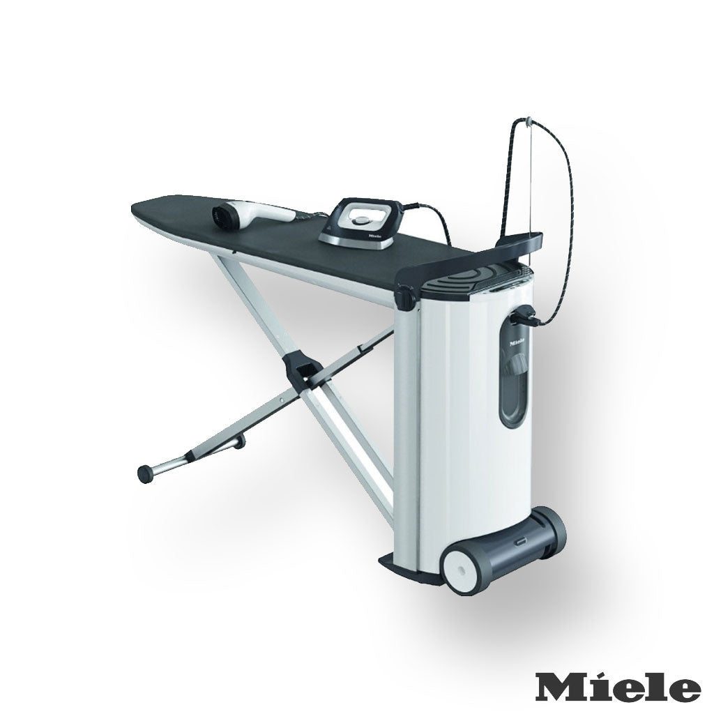 Miele B3847 Fashionmaster Ironing System Lotus Ironing Board Cover, White/Black