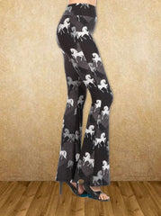 Horse Silhouette Palazzo Pants