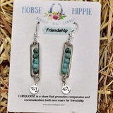 Friendship/ Turquoise Bar Earrings