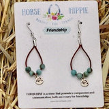 Friendship/ Turquoise Teardrop Earrings