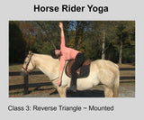 Horse Rider Yoga- Class Three-Cat/Cow & Reverse Triangle Poses Digital Download