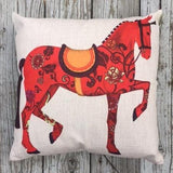 The Royal Horse Pillow Cover- Two to choose from