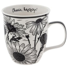 Daisy Mug- Choose Happy