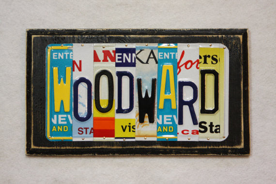 Custom License Plate Sign