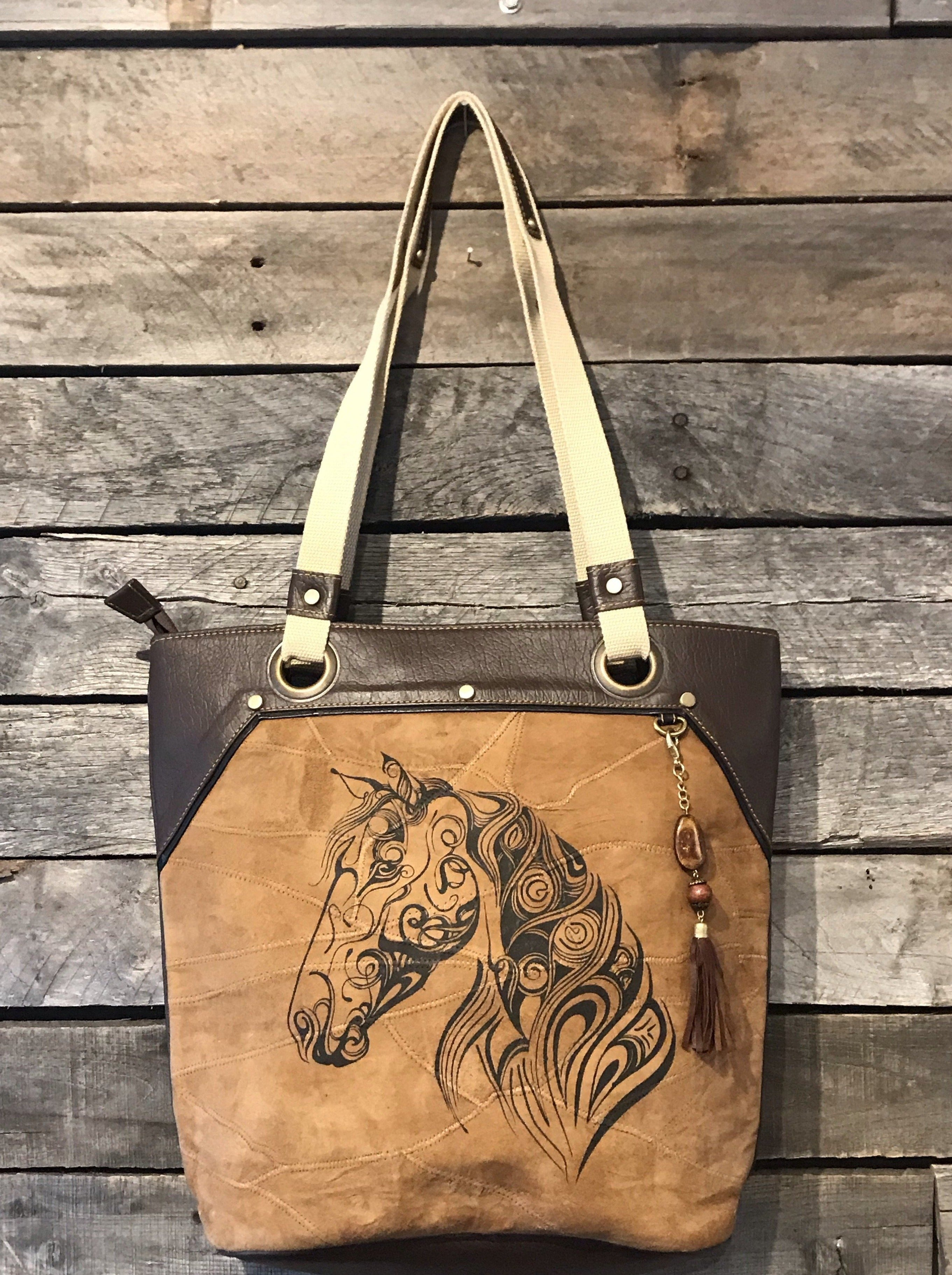 Upcycled Leather Horse Bag