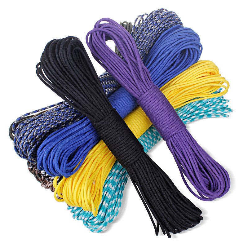 Camping survival equipment 108 colors Paracord 550 Paracord Parachute Cord Lanyard Rope Mil Spec Type III 7Strand 100FT Climbing
