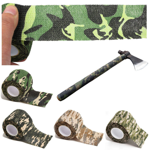 Outdoor Hunting Shooting Tool Camouflage Stealth Tape Waterproof Wrap Durable Cloth Tape 5cmx4.5m Army Camo