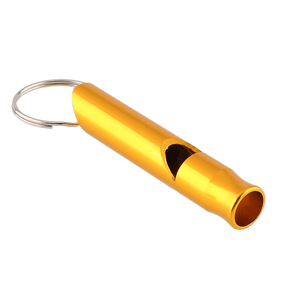 Outdoor Emergency Survival Safety Sport Camping Hunting Aluminum Alloy Whistle Keyring Keychain Mini