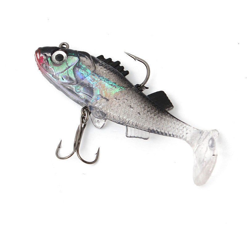 Fishing Paillette Fishing Lure 7.6cm Artificial Soft bait Carp Crankbait with Treble Tackle Hooks accessories