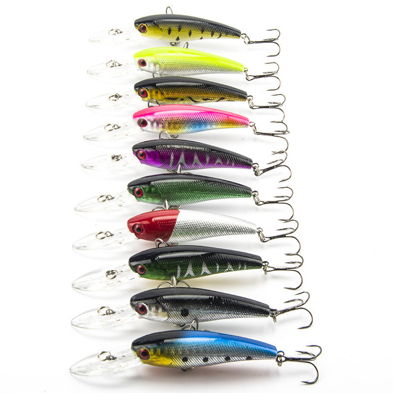 Fishing Wobbler Lot 10 pcs Fishing Lure Deep swim hard bait fish 9CM 8G artificial baits minnow