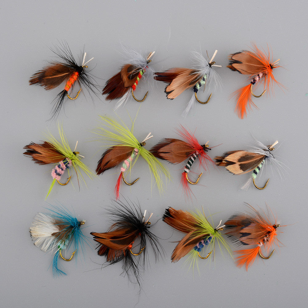 Fishing Lure Fishing Tackle Fly fishing Hooks 24pcs/set Butterfly Style Salmon Flies Trout Single Hook Dry Fly