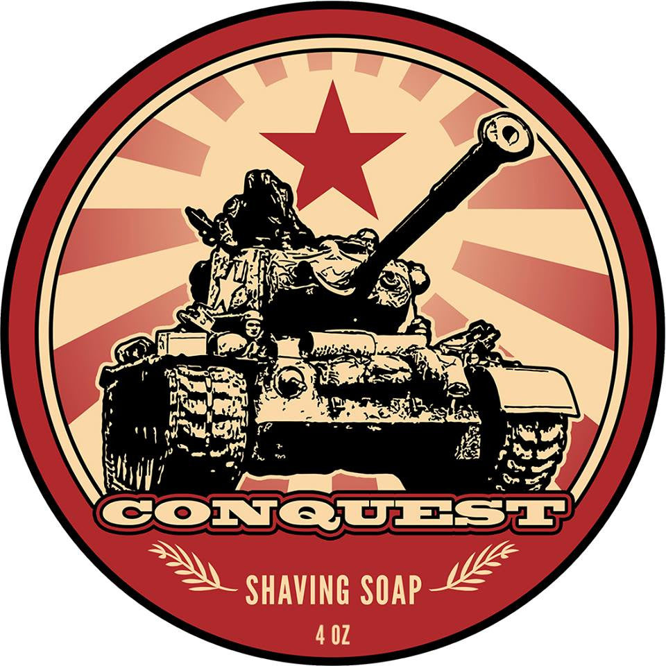 Next month we release the ultimate winter shaving soap, Conquest!