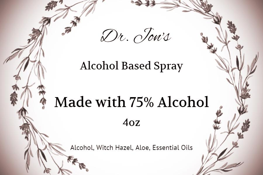 Dr. Jon's Alcohol Based Spray 4oz