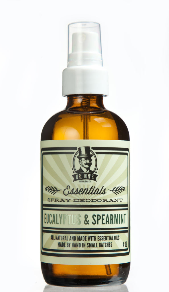 Dr. Jon's Essentials Natural Vegan Deodorant Spray - Eucalyptus and Spearmint